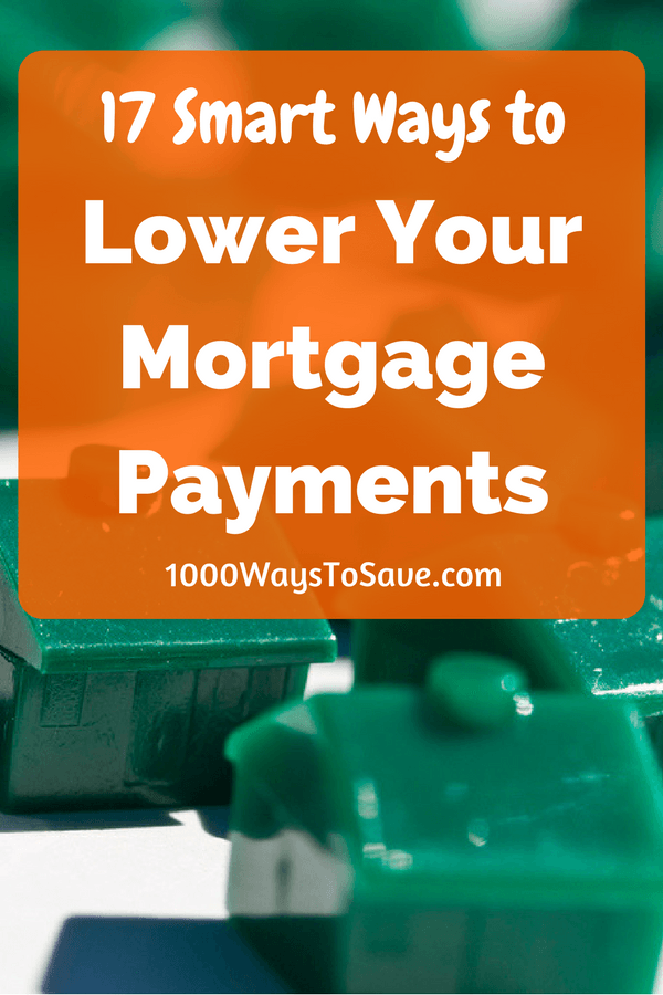 Owning a house will be easily one of the biggest purchases of your life.  But your mortgage payments don't have to stay huge for the rest of your life. When the opportunity strikes, you can easily shave hundreds of dollars off your monthly payments. This could translate into few years and thousands of dollars saved over the lifetime of your loan. Here are 17 clever ways you can lower your mortgage payments and save more money. - 1000WaysToSave.com