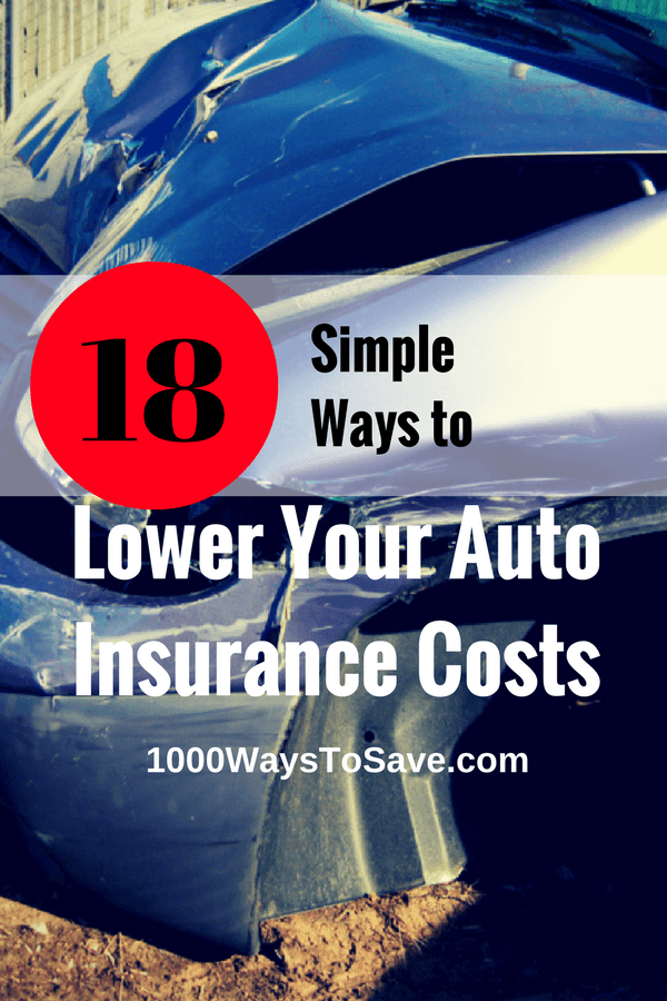 Like most insurance products, sometimes buying coverage for your vehicle can be a little tricky! Here are 18 easy ways you can lower your auto insurance costs and get the possible rate. - 1000WaysToSave.com