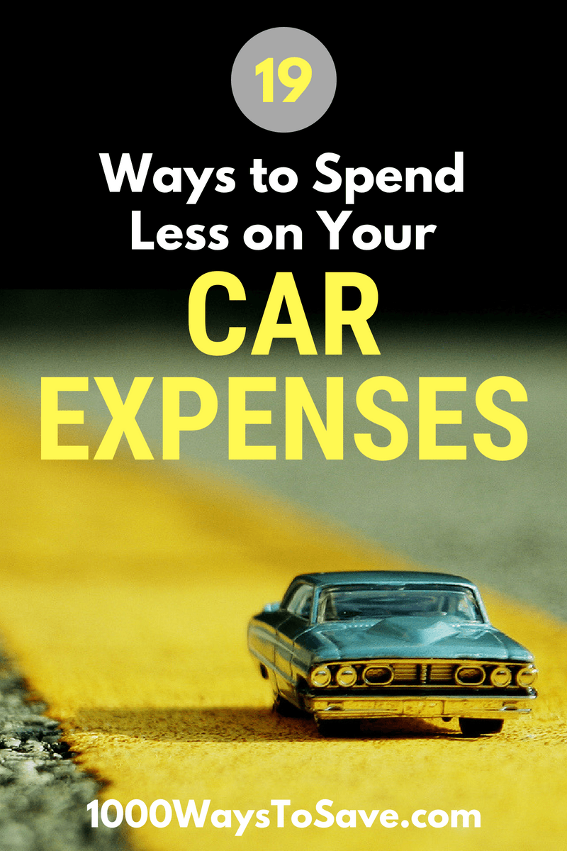 Driving shouldn't cost as much as a mortgage! Here are 19 creative ways to spend less on your car expenses and still get to where you want to go. #MoneySavingTips #1000WaysToSave