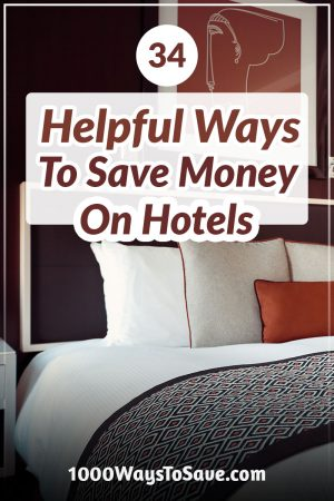 Having traveled a lot over the past decade (both as a family and for business), here are 34 helpful tips I can share of ways to save money on hotels. With just a few small strategies, it can be the difference between just renting a room and being treated like royalty! #MoneySavingTips #1000WaysToSave