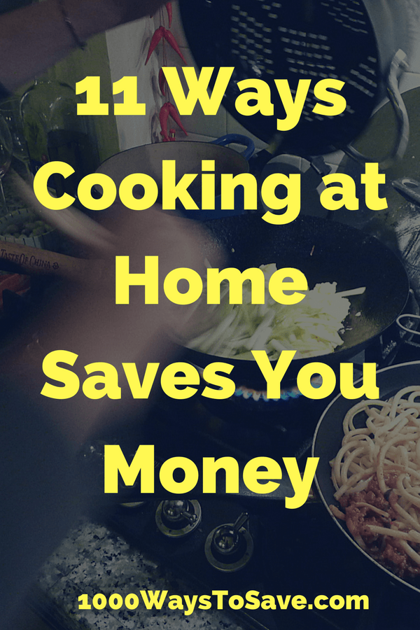 Saving Money By Cooking at Home