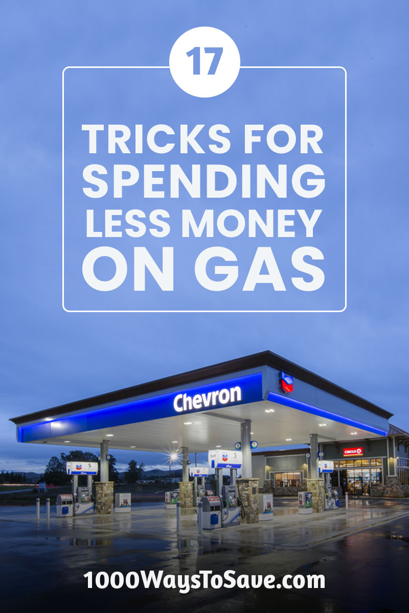 Fuel is expensive! But that doesn't mean you can't drive. Here's how to save money on gas using 17 tricks that I personally use for spending less every day! #MoneySavingTips #1000WaysToSave