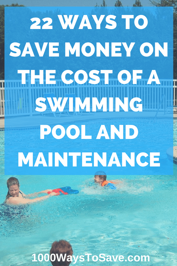 Ways To Save Money On The Cost Of A Swimming Pool And