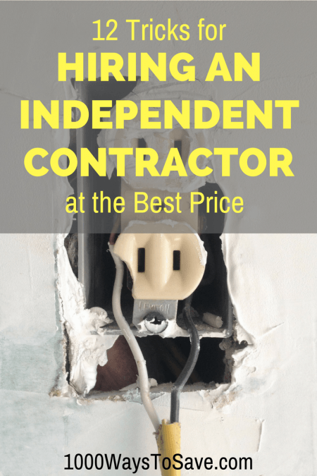 How to Hire an Independent Contractor at the Best Price – 12 Tricks
