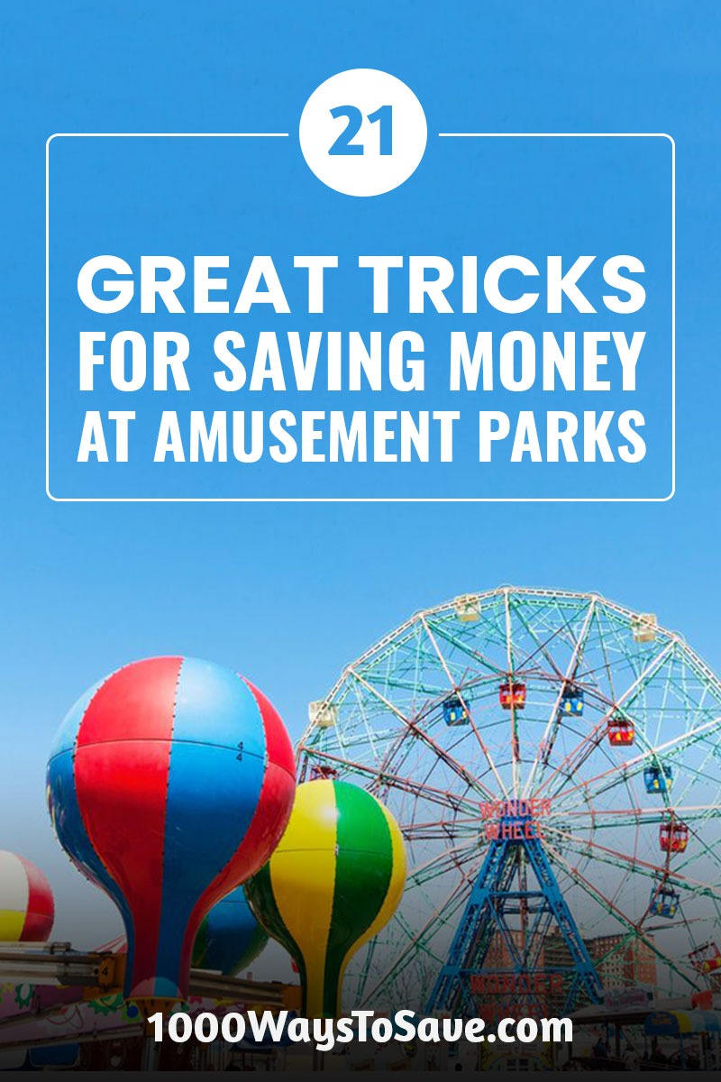 Who doesn't love a day at the amusement park! The rides, games, food, ... but oh-no, the prices! No need to panic. Here's how to save money at amusement parks using 21 of my family-tested tricks that will help you get the most out of your day. #MoneySavingTips #1000WaysToSave