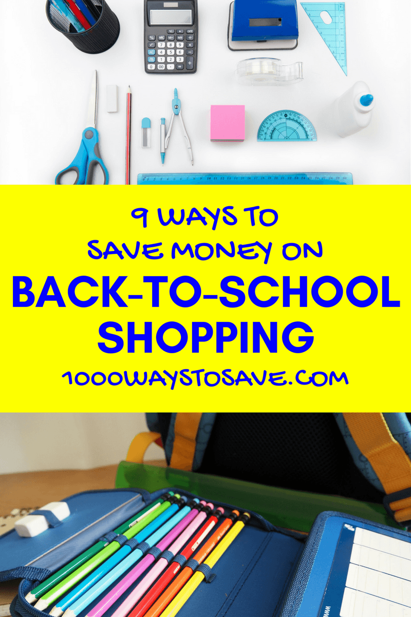 The average family spends $688 on getting their children ready to head back to class. You can do better! Here are 9 of my favorite ways to save money on back to school shopping that will have you looking great for less! #MoneySavingTips #1000WaysToSave